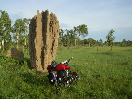 05.01.2007 - Impressionnante termitière. Stuart Highway.
