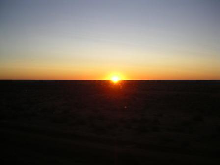 """07.01.2007 - Coucher de soleil dans le """"Red Center""""."""