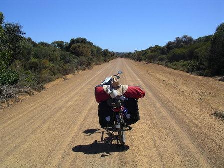 15.01.2007 - Seul sur la route ! Kangaroo Island.