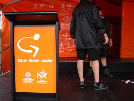 19.01.2007 - Les cyclistes ont disparu du podium. Victor Harbor.
