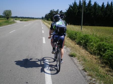 19.05.2007 - François, son vélo et son sac à dos !