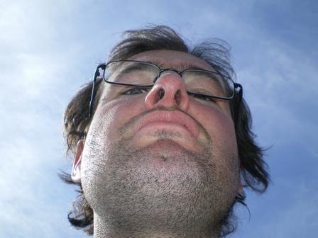 20.05.2007 - Vue sur les deux grottes nasales de François...