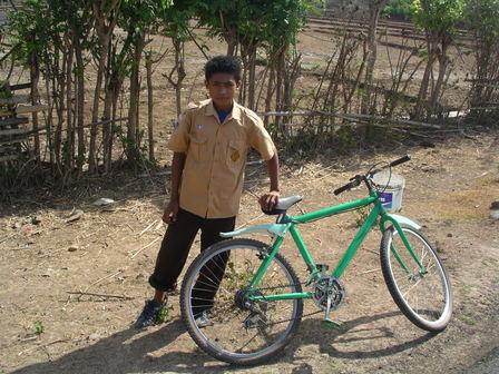 09.12.2006 - Un compagnon de route. Direction Sape. Sumbawa.