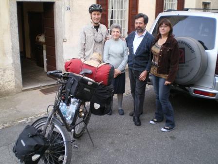19.04.2007 - Avec la zia Rosetta, Adriano et ma soeur. Riviera.