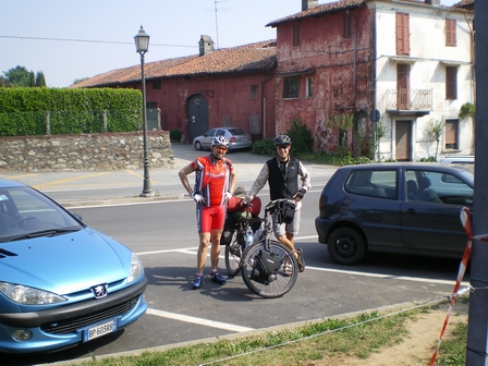 20.04.2007 - Avec Carlo ; un autre fou du vélo. Cavaglia.