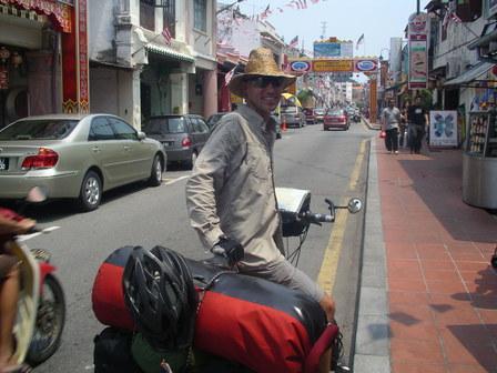 07.10.2006 - Arrivée dans le quartier chinois de Malacca.