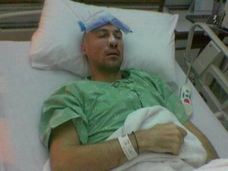 21.10.2006 - Quelques heures après l'opération. Dans les choux...