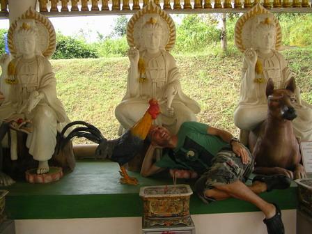 03.09.2006 - Le signe du coq, c'est le mien. Environs de Hat Yai.